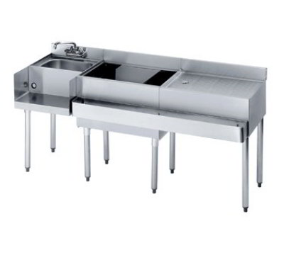 "Krowne 18-W66L-7 Left Blender/Cocktail/Right Drainboard Unit - 80-lb Ice Bin, 66x.22.5"", Cold Plate"