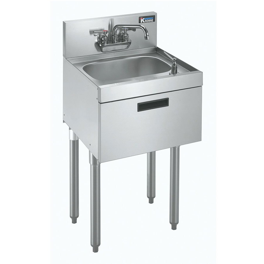 "Krowne KR21-12DST Commercial Hand Sink w/ 14""L x 10""W x 7""D Bowl, Low Lead"