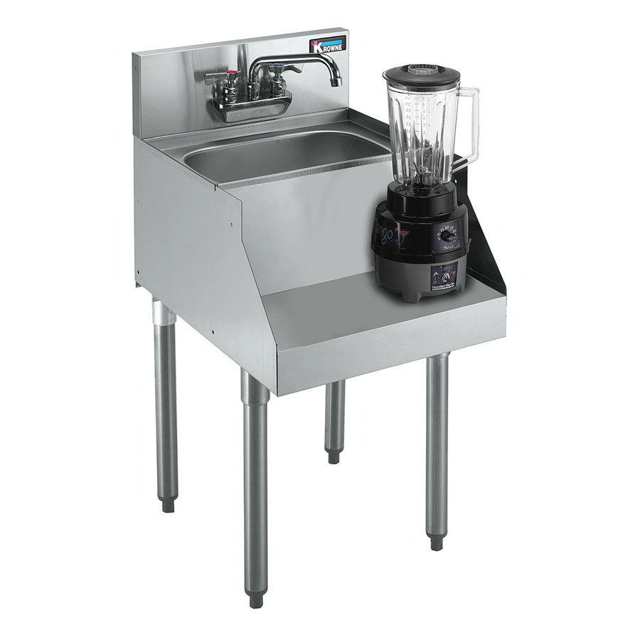 "Krowne KR21-14BD Blender/Liquid Dump Sink - 10x12x7"" Bowl, Deck Mount, 14x26"