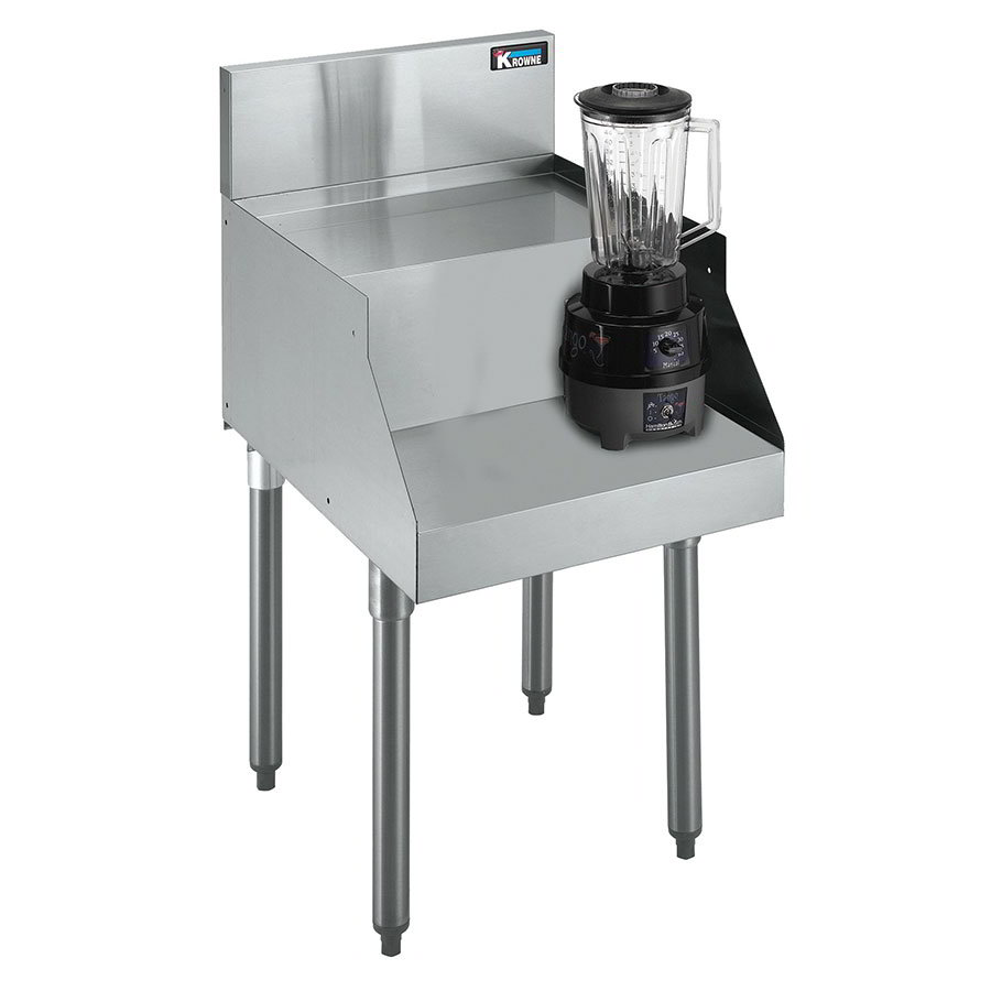"Krowne KR21-14BF Single Blender Unit w/ Step - 7"" Back Splash, 14x26"