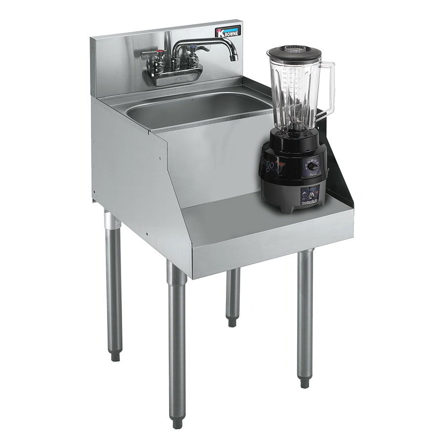 "Krowne KR21-18BD Blender/Liquid Dump Sink - 10x14x7"", Deck Mount, 18x26"