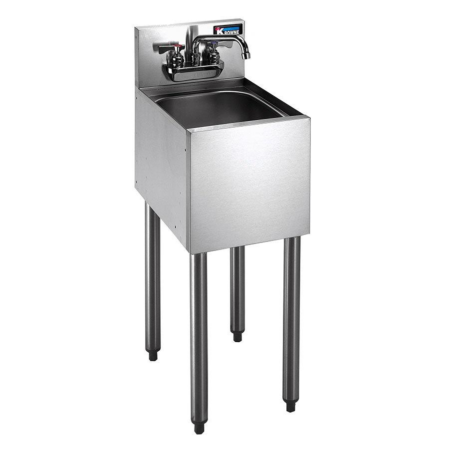"""Krowne KR21-1C 12"""" 1-Compartment Sink w/ 10""""W x 14""""L Bowl, 7"""" Deep"""