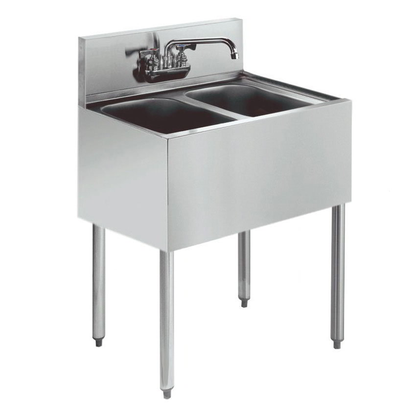 Krowne Kr21 22c 24 Quot 2 Compartment Sink W 10 Quot W X 14 Quot L Bowl