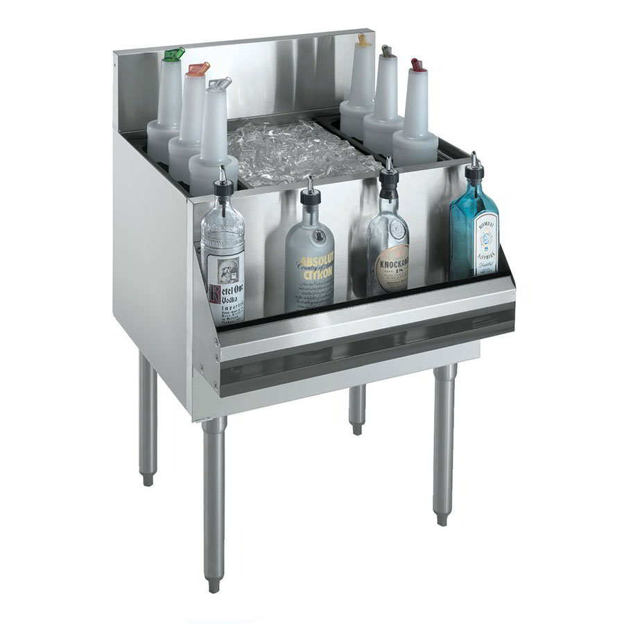 "Krowne KR21-30DP-10 Ice Bin - 120-lb Capacity, Bottle Racks, 30x21"", Cold Plate"