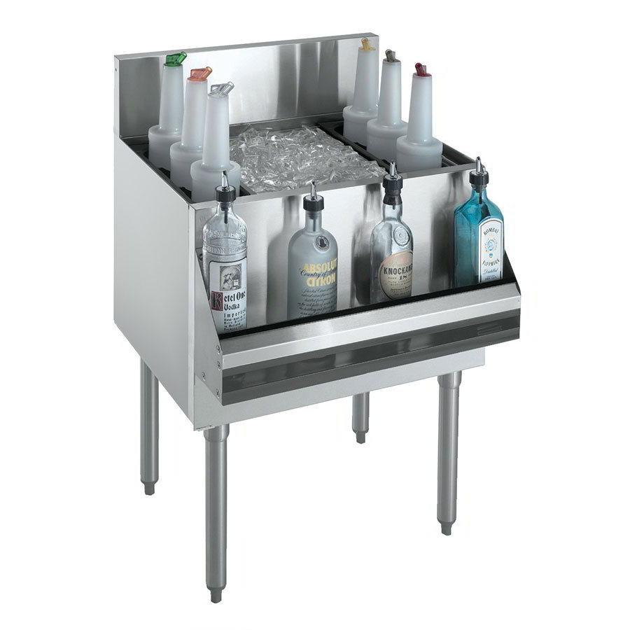 "Krowne KR21-36DP-10 Ice Bin - 138-lb Capacity, Bottle Racks, 36x21"", Cold Plate"
