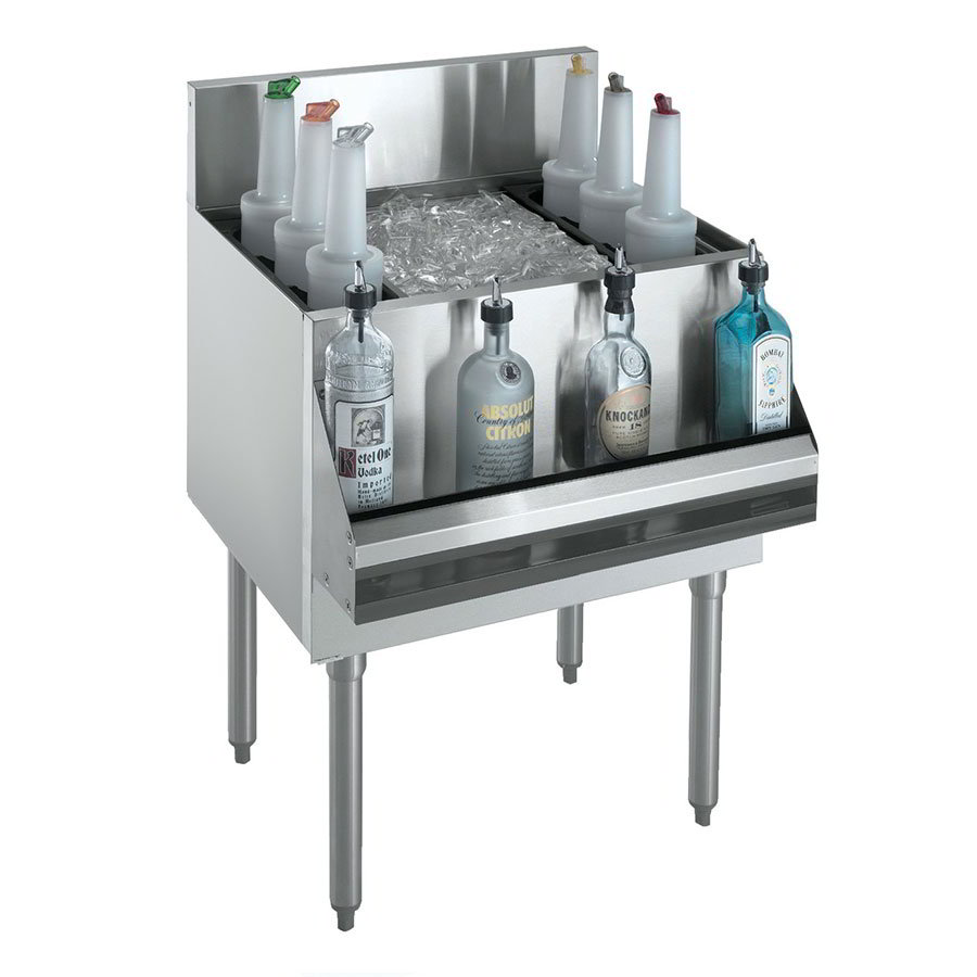Krowne KR21-36DP Ice Bin - 138-lb Capacity, Bottle Racks, 36x21