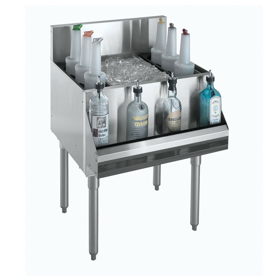 "Krowne KR21-42-10 Ice Bin - 135-lb Capacity, Bottle Racks, 42x21"", Cold Plate"