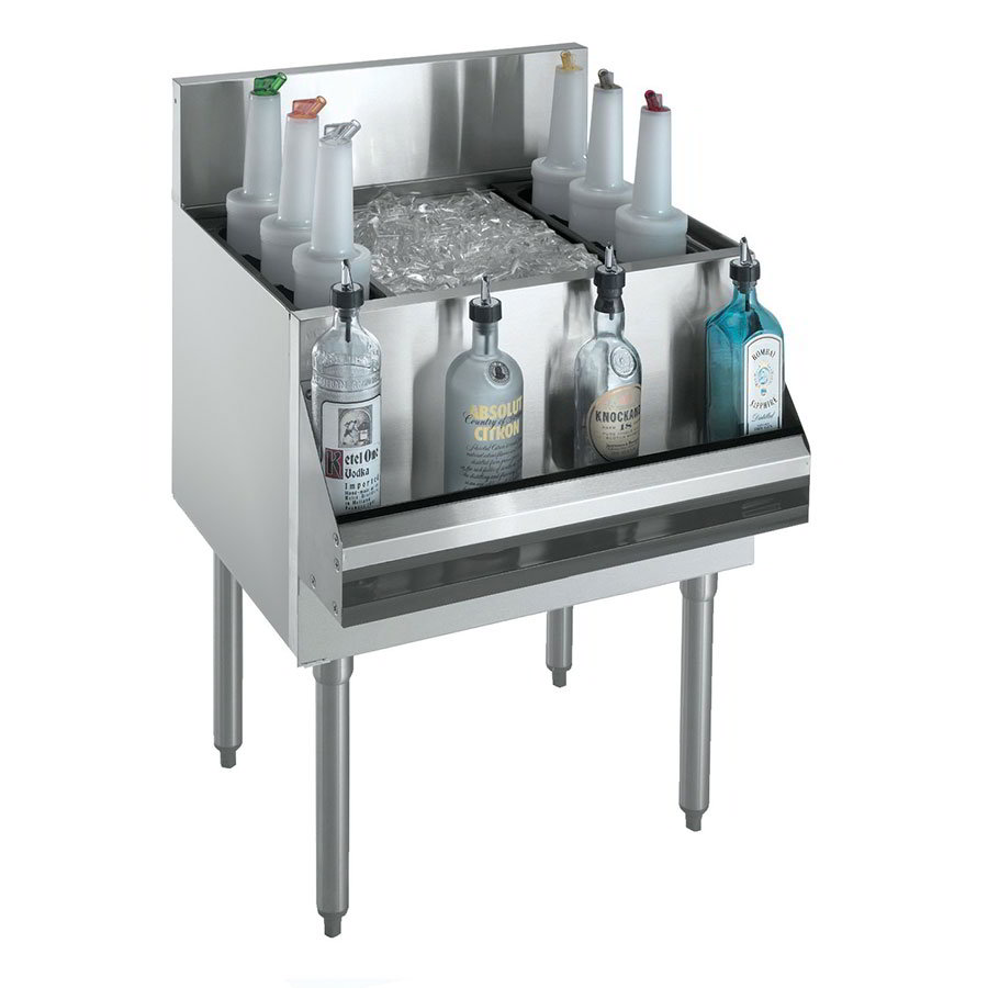 "Krowne KR21-48DP-10 Ice Bin - 178-lb Capacity, Bottle Racks, 48x21"", Cold Plate"