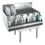 Krowne KR21-M36R Right Ice Bin/Left Bottle Section - 80-lb Capacity, 36x21