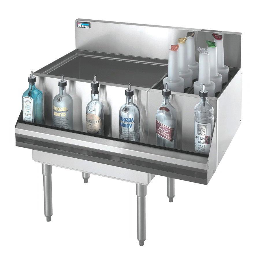 Krowne KR21-M48L Left Ice Bin/Right Bottle Section - 115-lb Capacity, 48x21