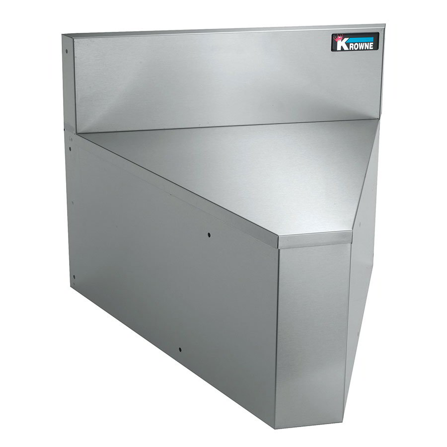 "Krowne KR21-R90 21"" Rear Angle - 90-Degree, 7"" Back Splash"