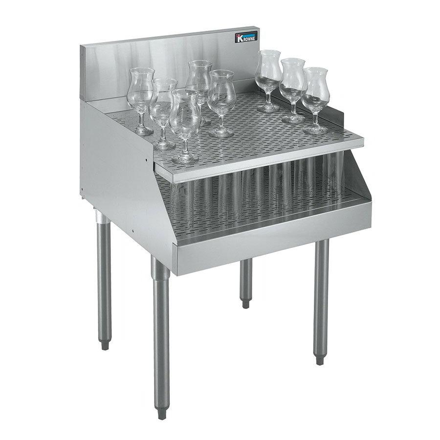 Krowne KR21-RG24 Under Bar Freestanding Drainboard - Recessed, 24x26