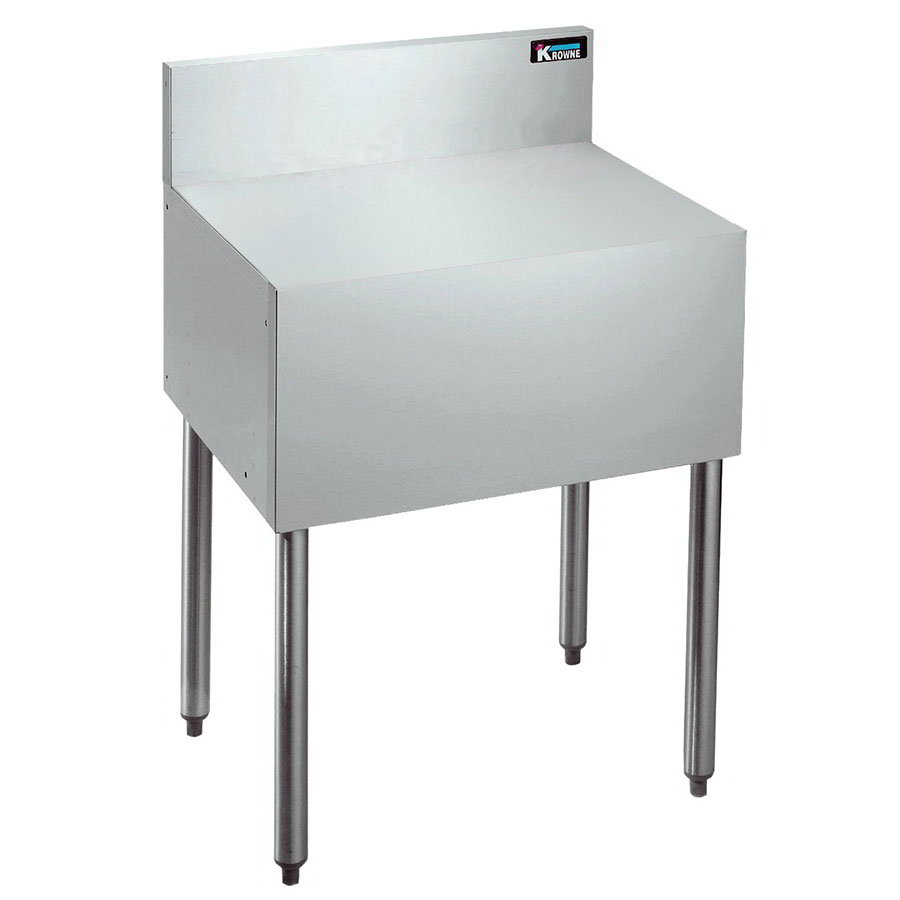 "Krowne KR21-RS24 Flat Top Register/Coffee Stand - 7"" Back Splash, 30""H, 24x21"