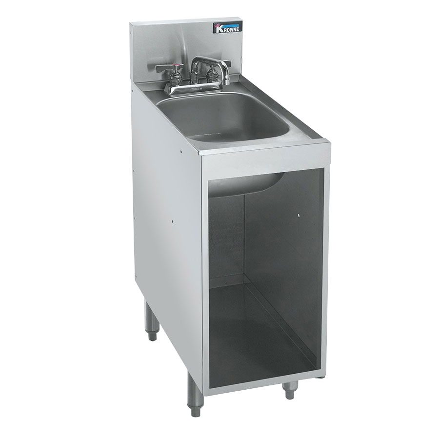 Krowne Kr21 S12c Under Bar Storage Unit W Sink Open
