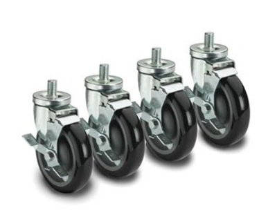 Krowne 28-145S Universal Threaded Stem Caster Set, 0.63 x 11-in