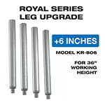 "Krowne KR-806 6"" Long Legs for Royal Series Underbar Sinks, Stainless"