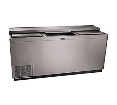 "Krowne BC72-SS 72"" Forced Air 612-Capacity Bottle Cooler - Stainless Interior, 115v"