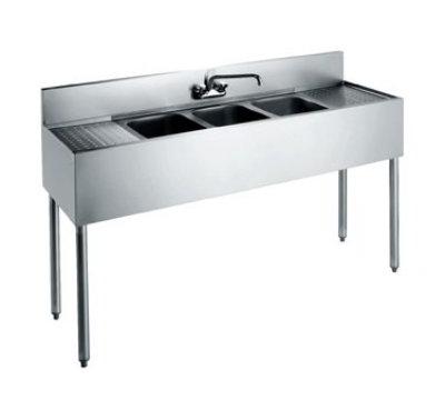 "Krowne CS-1860 Convenience Store Sink - (3) 14x10x10"" Bowls, Splash Mount, 60x19"