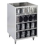 "Krowne KR-G24 24"" Backbar Glass Storage Cabinet w/ 3-Shelves, 24"" D"