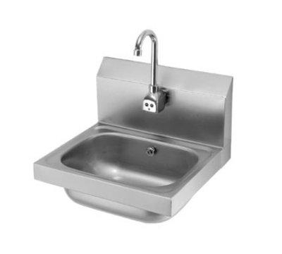 """Krowne HS-11 Wall Mount Hand Sink - 14x10x6"""" Bowl, Electronic Gooseneck Faucet, P-Trap"""