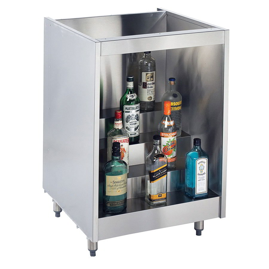 Krowne KR-L24 4-Step Backbar Liquor Display, 24-L x 24-in D