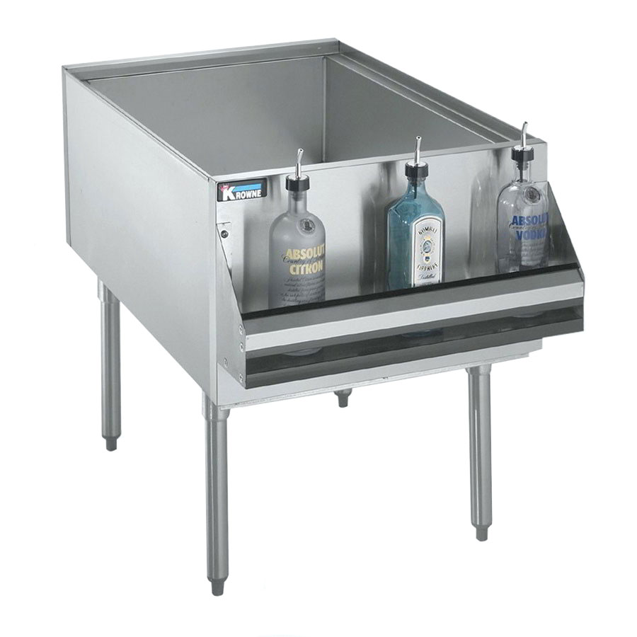 Krowne KRPT-2436 Pass-Thru Ice Bin, 175-lbs Ice & 24 x 36-in