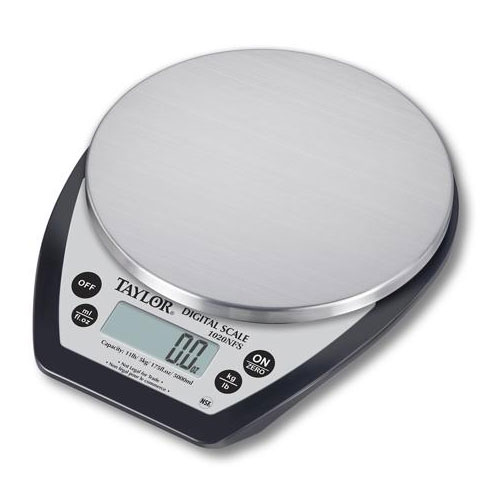 Taylor 1020BDBKSSDR Stainless Digital Scale w/ Black Base