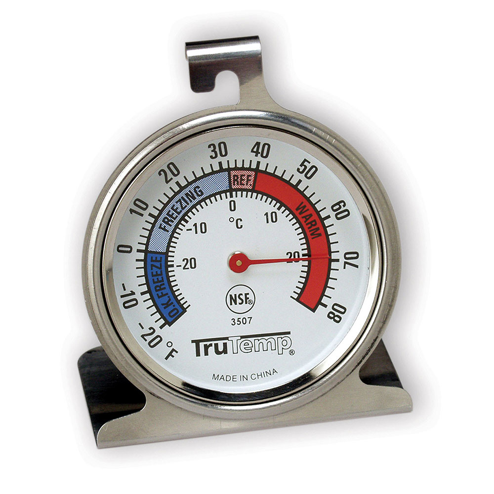 "Taylor 3507 TruTemp Refrigerator Freezer Thermometer w/ 2.25"" Dial, -20 to 80F"