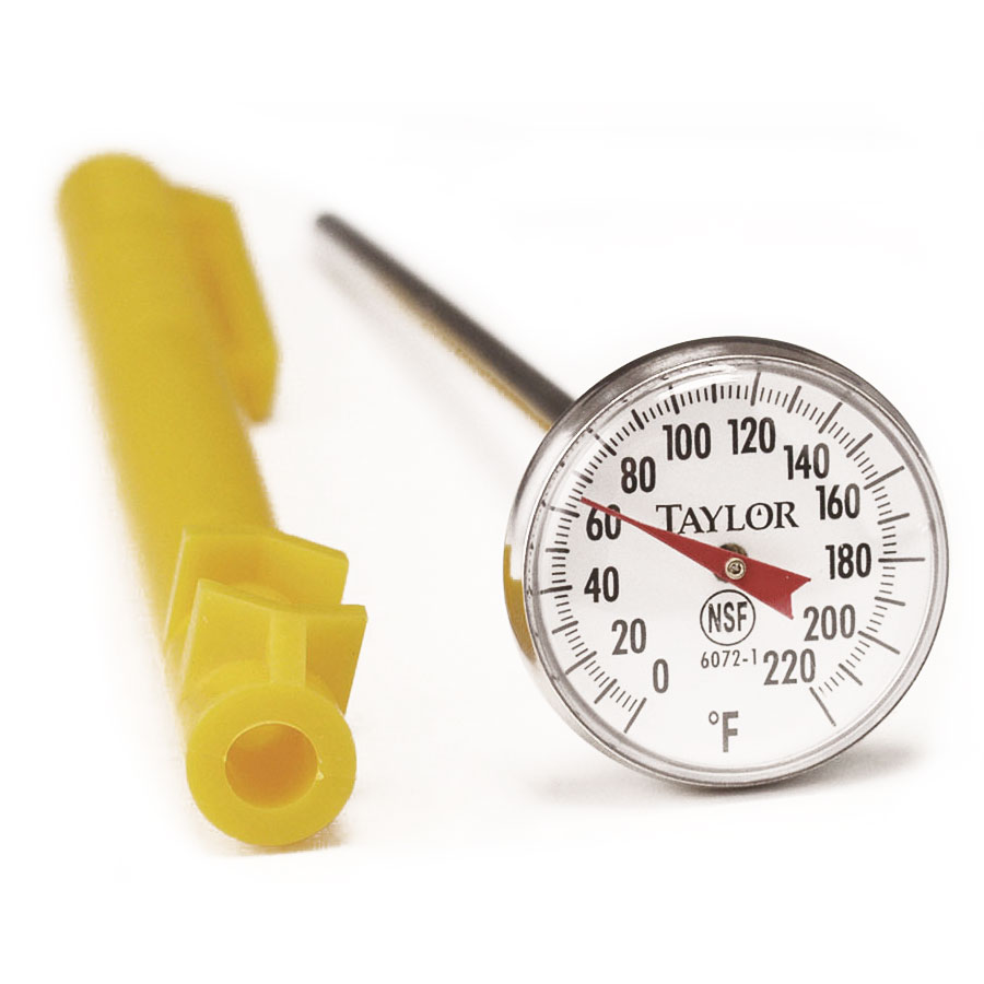 Taylor 3621N TruTemp Pocket Thermometer w/ Case, 0 to 220F