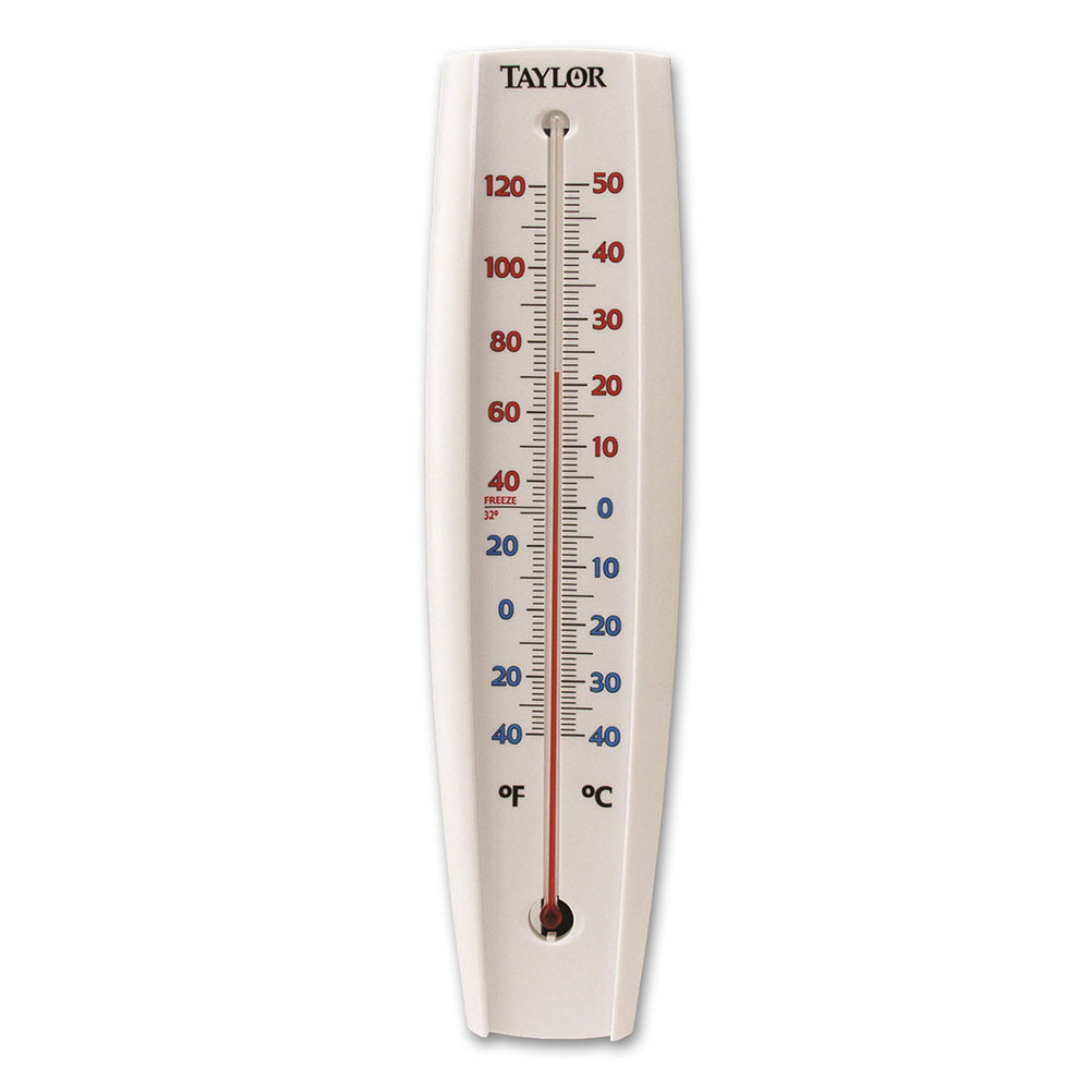 Taylor 5109 Jumbo Window Thermometer w/ Red Reading Tube, -40 to 120 F Degrees