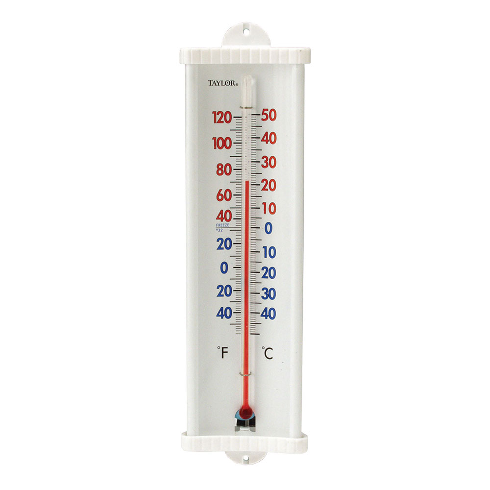 Taylor 5132N Utility Wall Thermometer w/ Suction Cup Mount, -40 to 120 F Degrees