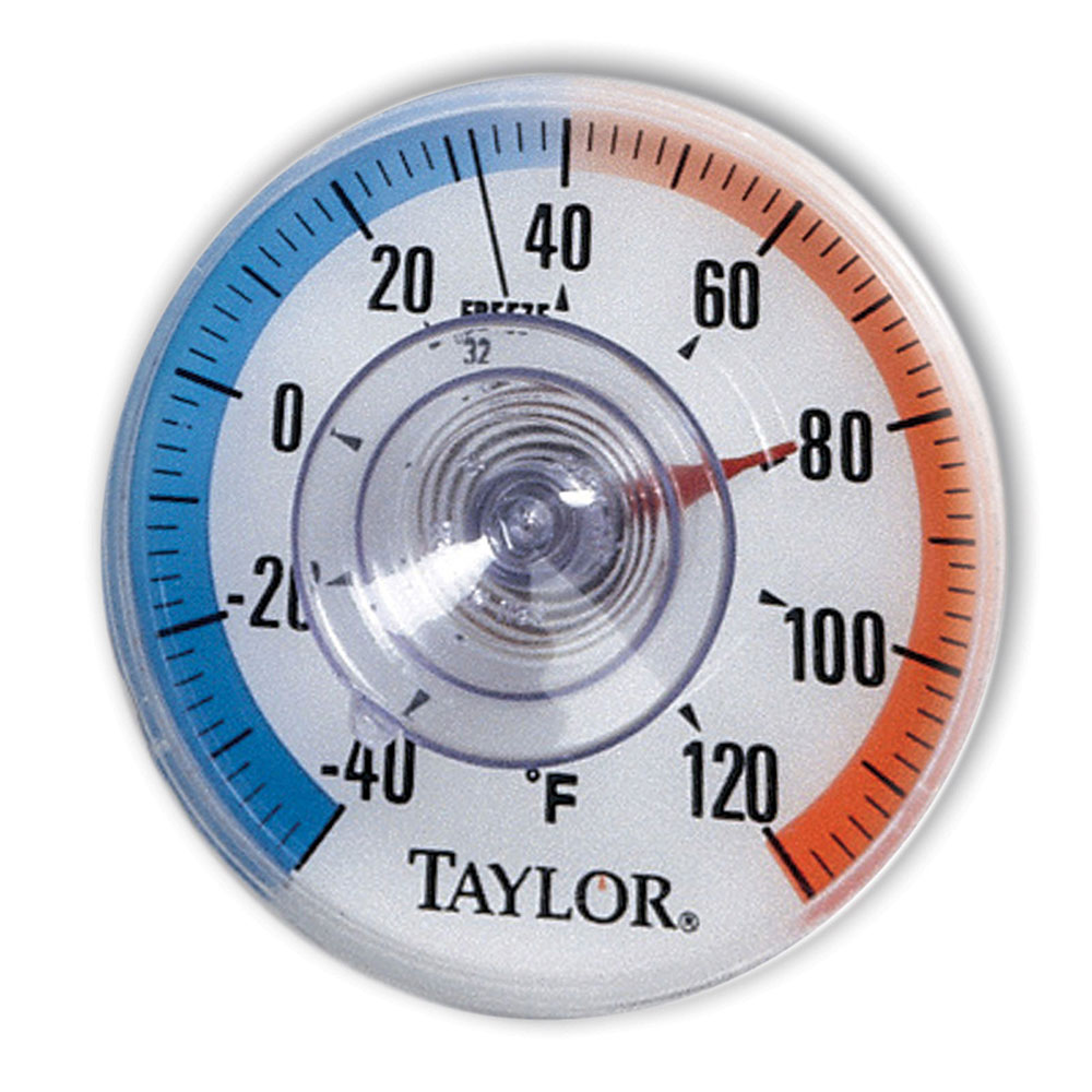 Taylor 5321N Indoor Outdoor Window Thermometer, 3.5-in Dial, -40 to 120 Degree