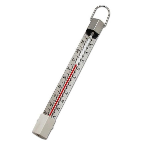 Taylor 5410J Permacolor-Filled Ring Top Thermometer w/ Cup, -40 to 130 F Degrees