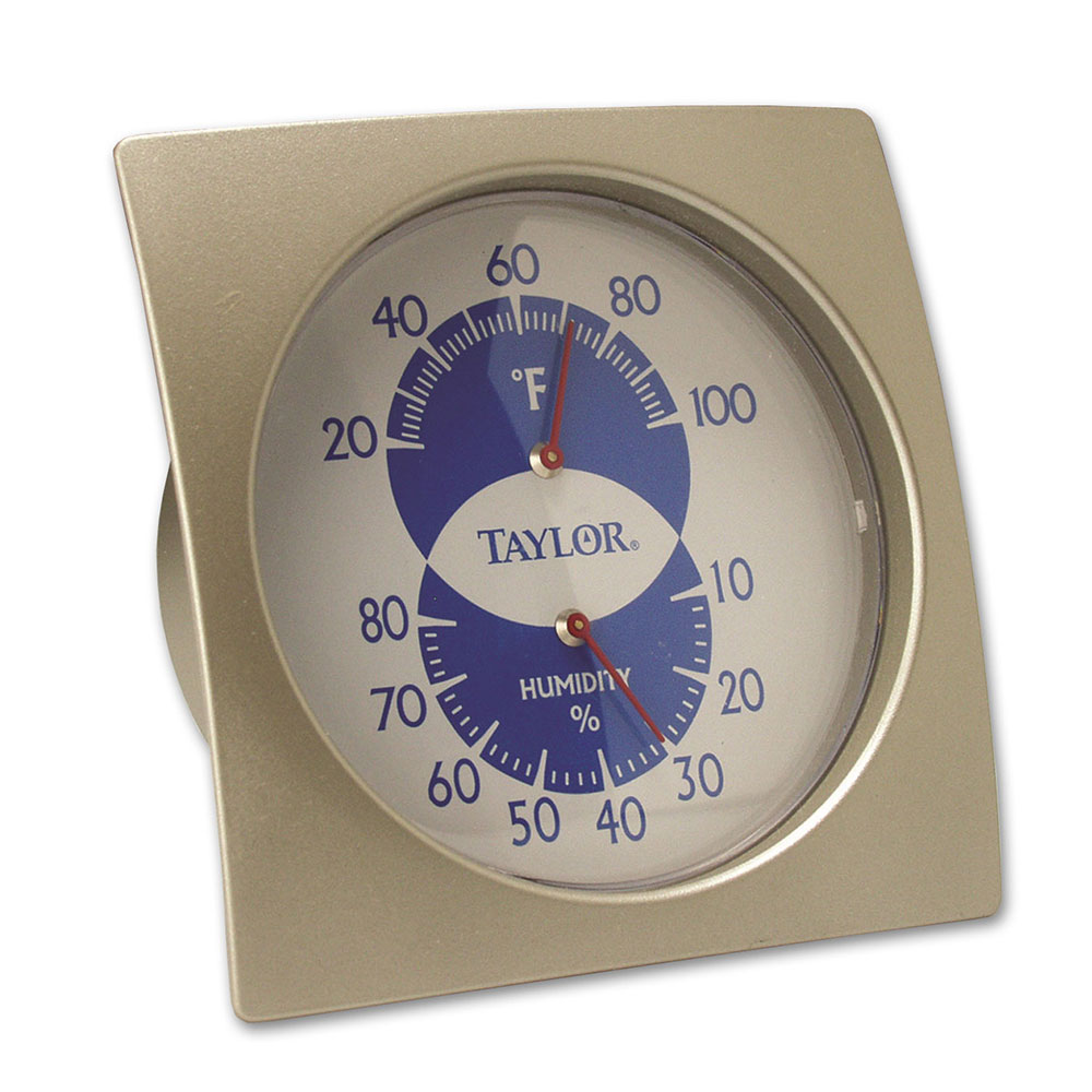Taylor 5504 Dial Thermometer/ Hygrometer, 10 to 80 Percent Humidity Range