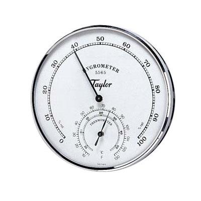 Taylor 5565 Hygrometer Thermometer, 5 to 90 Percent Relative Humidity Indicator