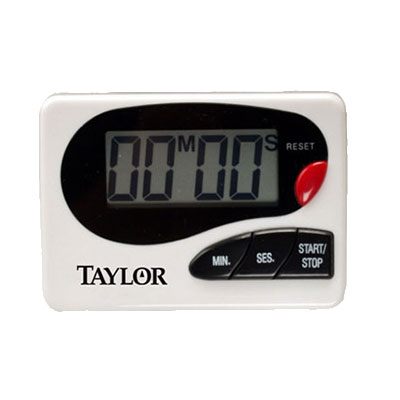 Taylor 5822 Electronic Timer w/ Recall Function, .8-in Readout, Clip & Magnet