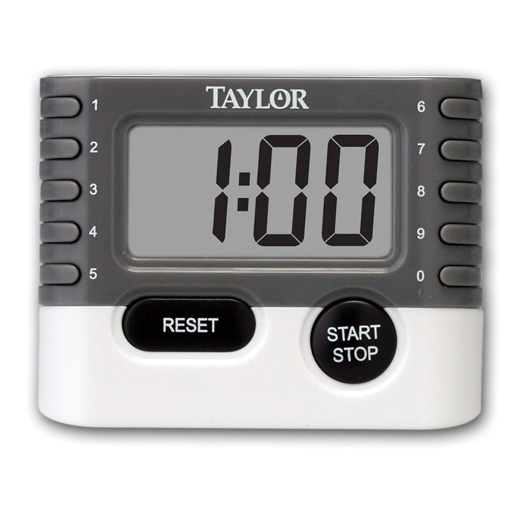 "Taylor 5829 10-Key Digital Timer w/ Minute & Second Timing, .75"" LCD Display"