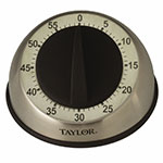 Taylor 5830 60-Minute Manual Timer w/ 9-Second Ring, Stainless