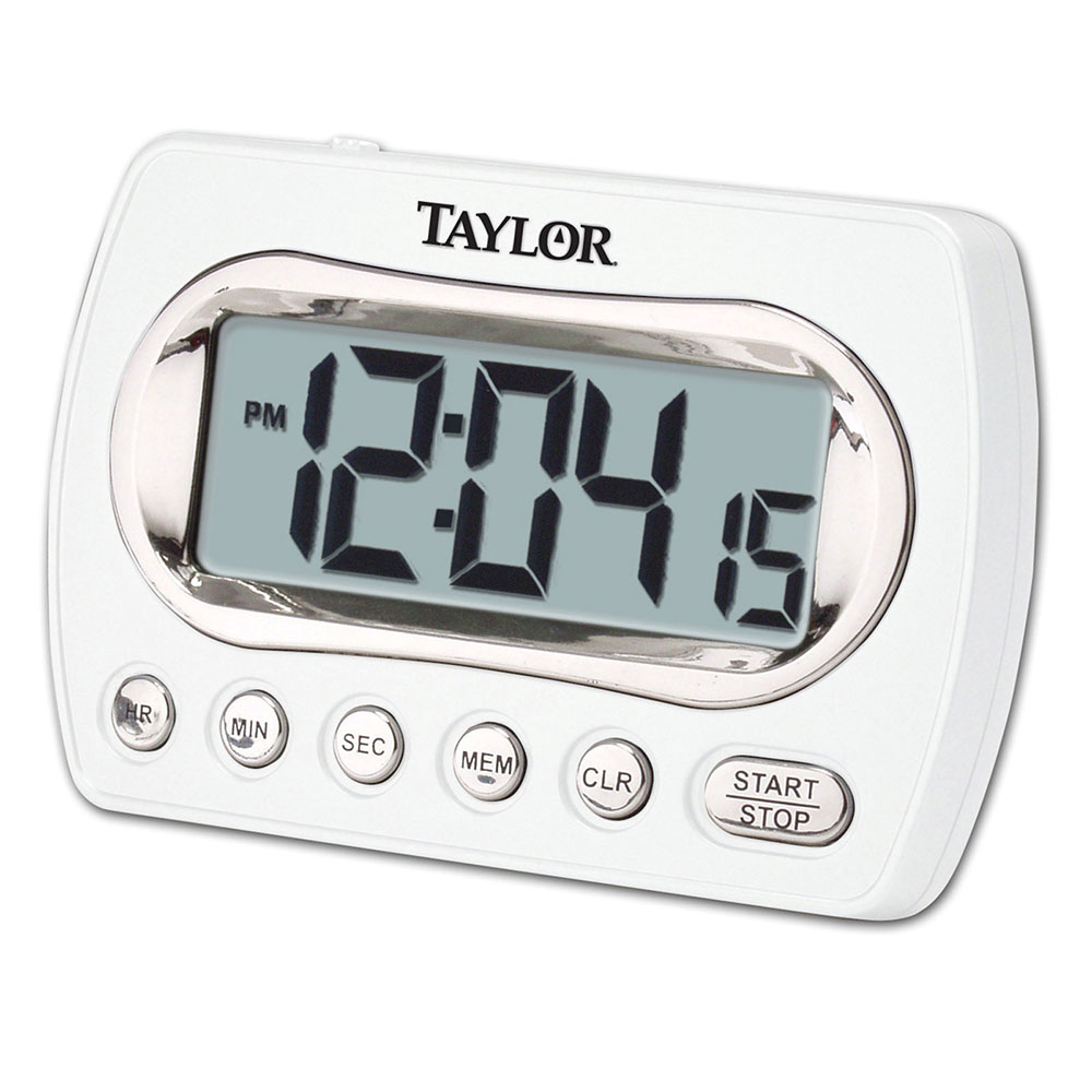 Taylor 5847-21 Digital Timer LCD Readout - Up To 24-hrs, Clock Feature