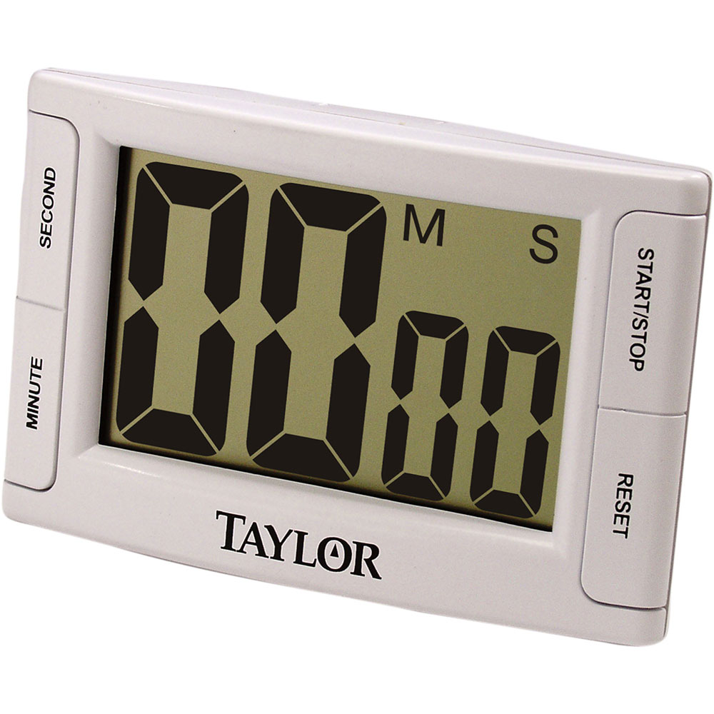 "Taylor 5896 Digital Timer w/ 2.5 x 1-3/5"" LCD & Memory Function, Jumbo Readout"