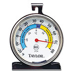 "Taylor 5924 Refrigerator & Freezer Thermometer w/ 3.25"" Dial Face, Stainless"