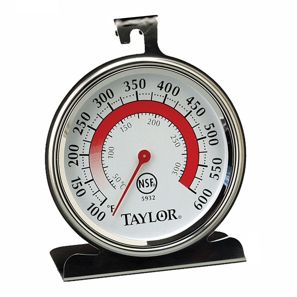 "Taylor 5932 Oven Thermometer w/ 3.25"" Dial Face, 200 to 500 F Degrees"