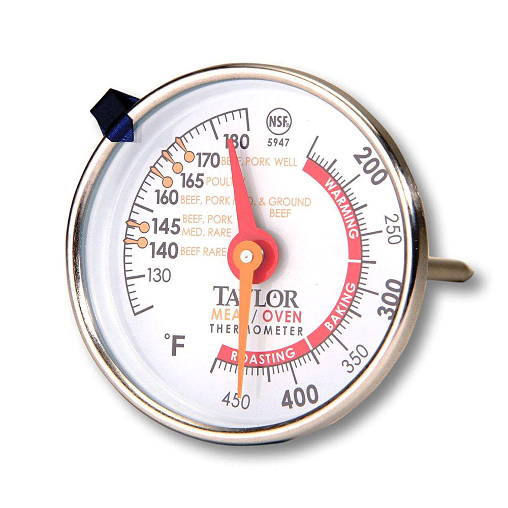 Taylor 5947 Oven Meat Dial Thermometer, 150 to 500 F Degree Range