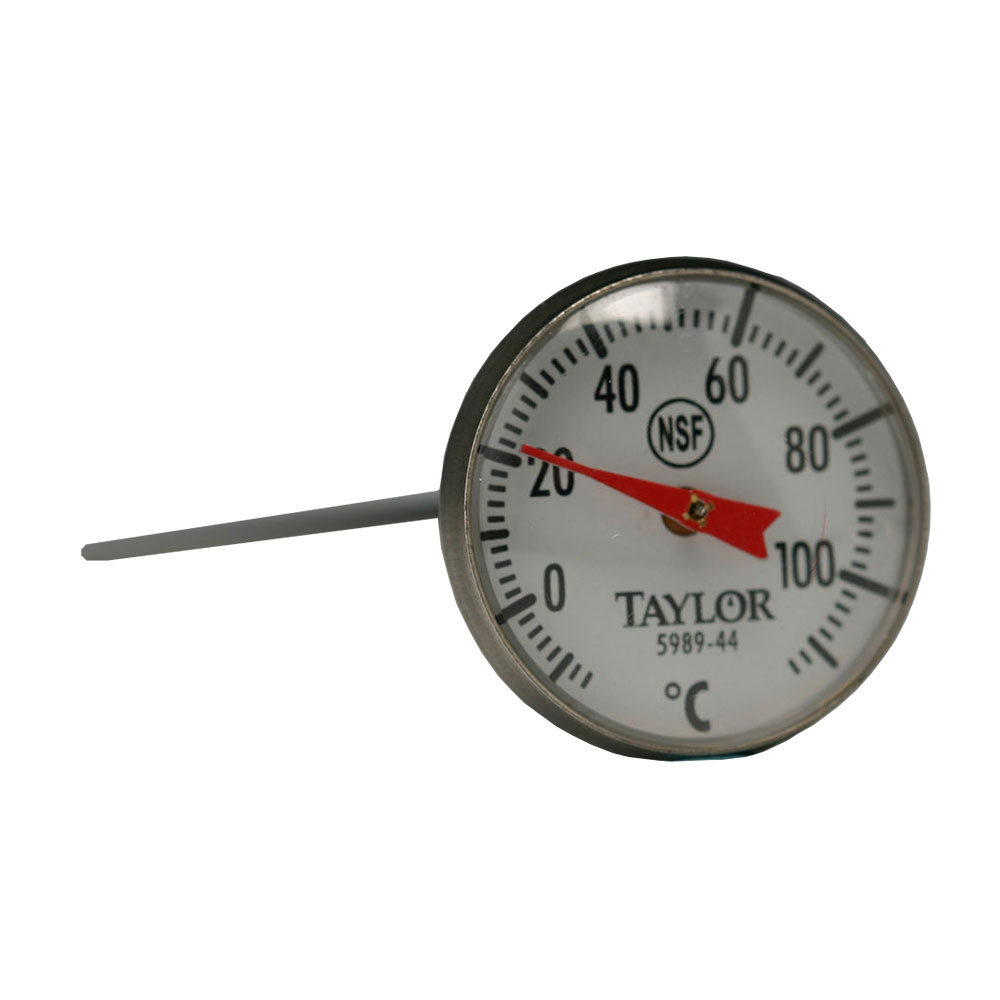 Taylor 5989-44 Pocket Thermometer w/ 1-in Dial, 10 to 110 Degree Celsius Capacity
