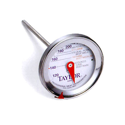 "Taylor 5990N Meat Thermometer, 2.75"" Dial w/ Prep Scale, 120 to 250 F Degrees"