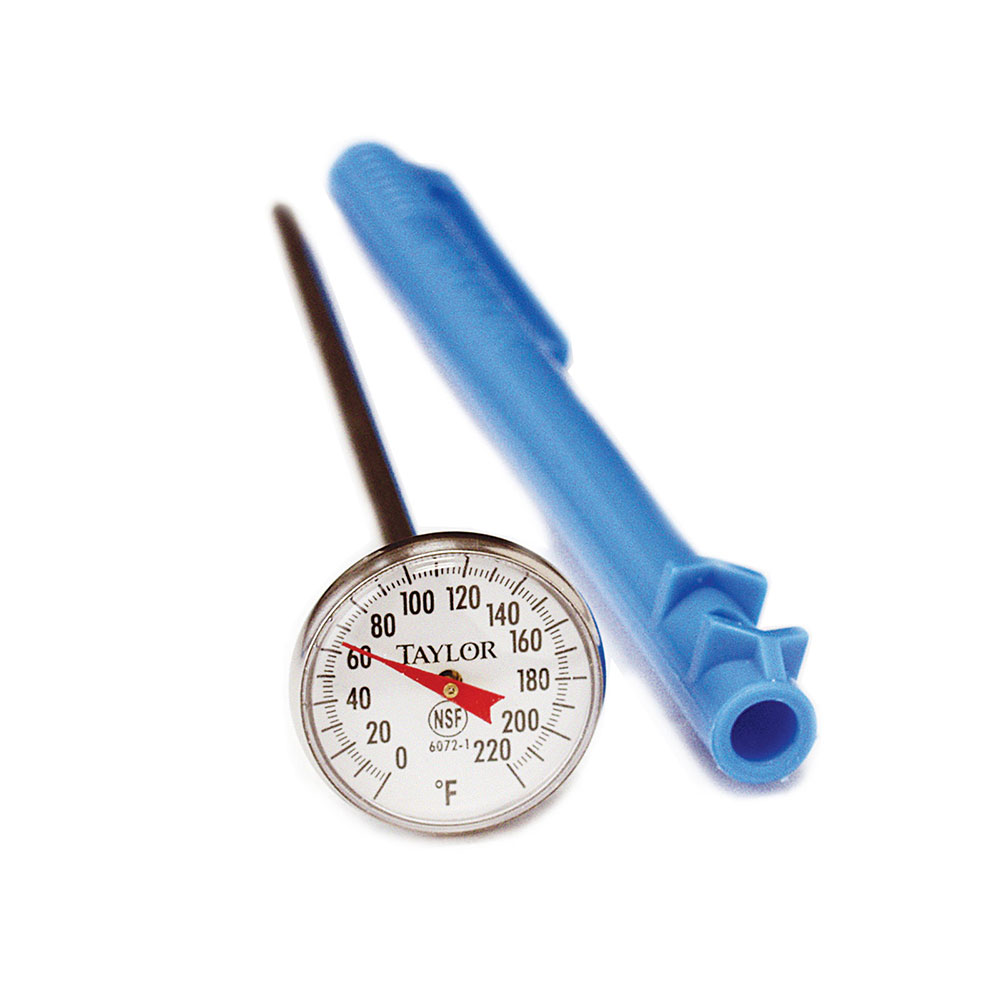Taylor 6071 Pocket Thermometer w/ 3-Point Calibration, -40 to 120 F Degrees