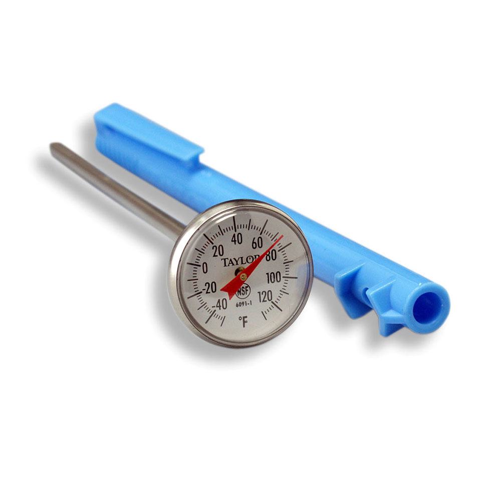 Taylor 6091N Pocket Thermometer w/ 1-Point Calibration, -40 to 120 F Degrees
