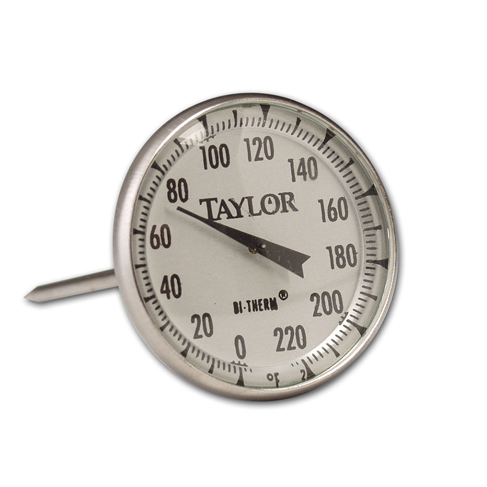 "Taylor 61054J Roast Meat Thermometer w/ 2"" Dial Display, 0 to 220 F Degrees"
