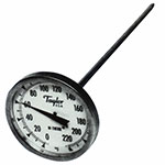 "Taylor 6215J Pocket Thermometer, 3-Point Calibration, 0 to 220 F Degrees, 8"" Stem"