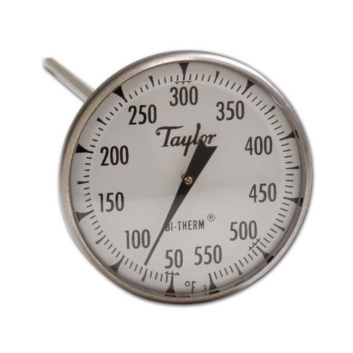 """Taylor 6220J Pocket Thermometer, 3-Point Calibration, 0 to 550 F Degrees, 8"""" Stem"""